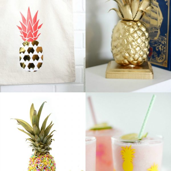 15 DIY Pineapple projects that perfectly capture the pineapple trend. Love #2!