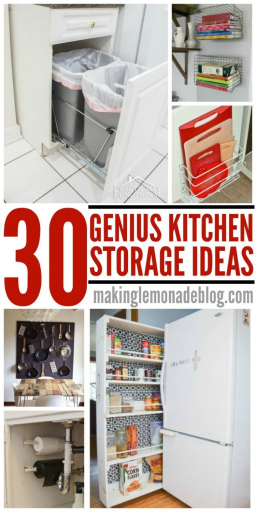 30 ideas that prove you don't need a bigger kitchen, you just need to try these genius kitchen storage and organization hacks!