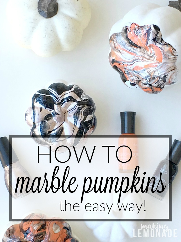 Diy Marbled Pumpkins 5 Minute Craft