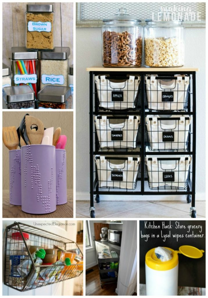 30 Genius Kitchen Storage Hacks + Ideas