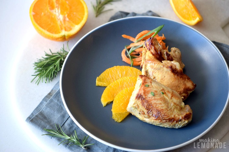Why stress Thanksgiving or Christmas dinner? This delicious Orange Glazed Turkey Breast recipe will be a hit with half the work!