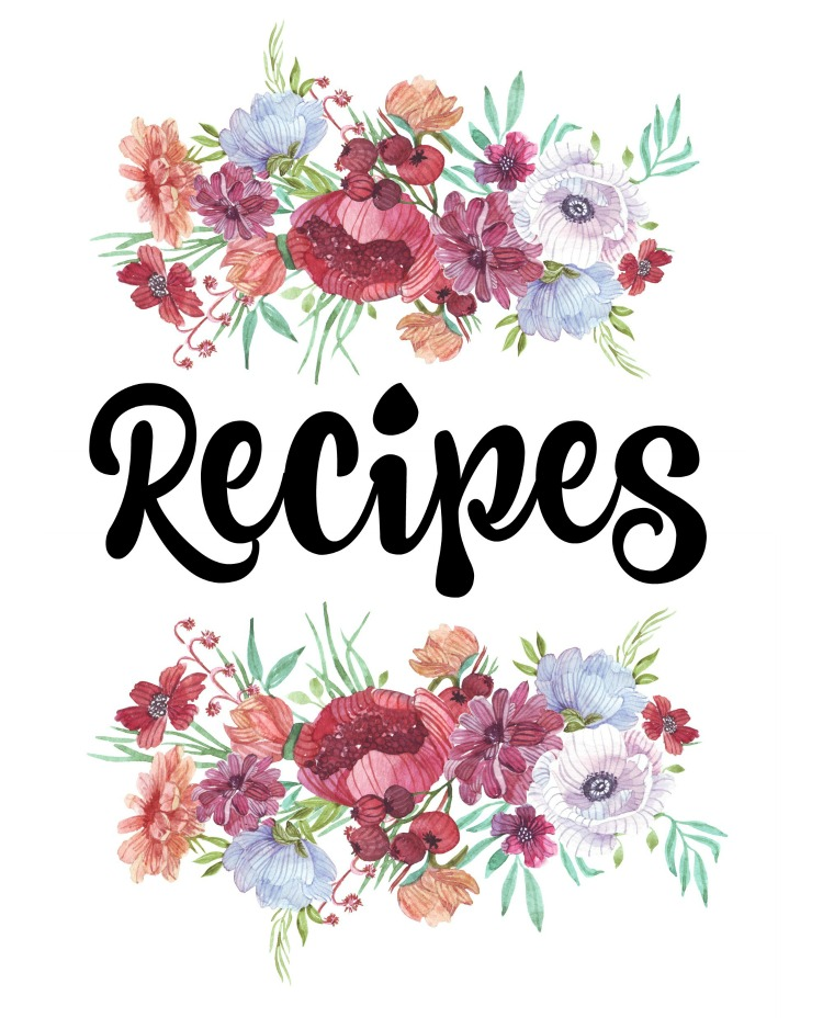 How To Organize Recipes Free Printable Recipe Binder Covers