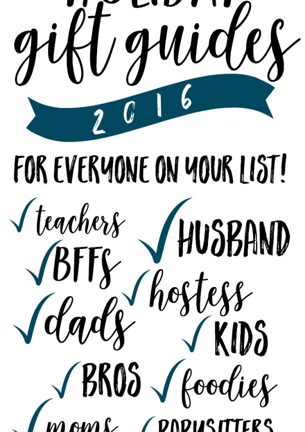 YAY, the annual gift guides are here, and these are the best ones yet! Literally something for everyone on my list!