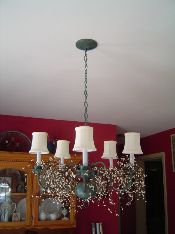 antique patina chandelier