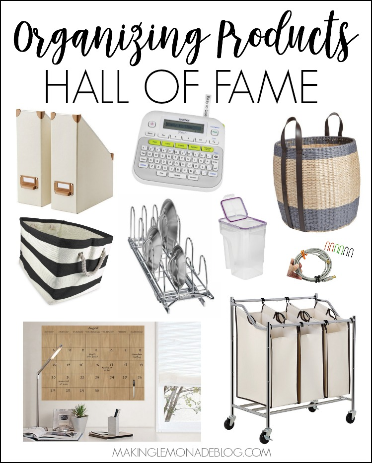 If there was a Hall of Fame for organizing products, these would be all-stars! LOVE these top organization products and ideas to get your home totally organized in the new year.