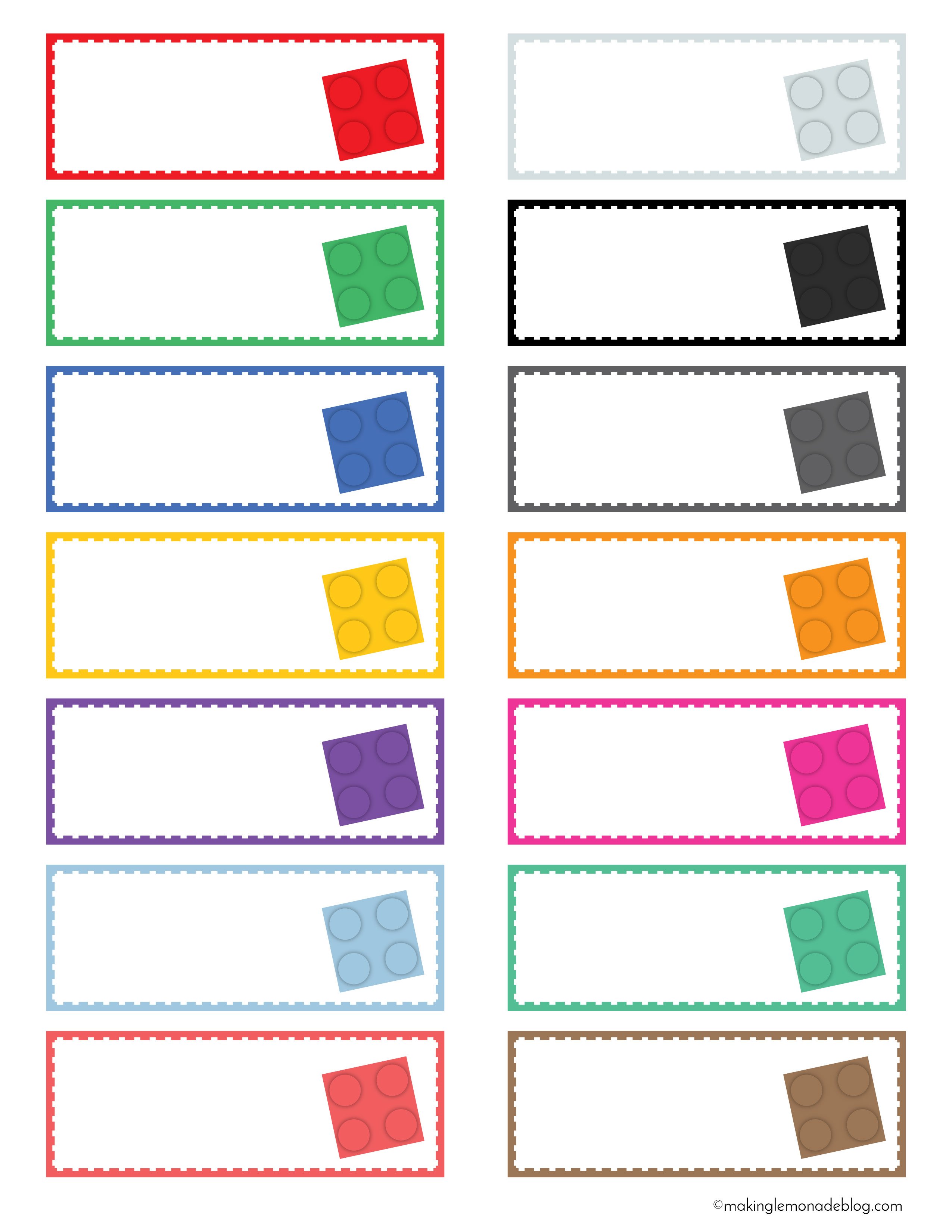 photograph relating to Free Printable Organizing Labels identified as The Magical LEGO Preparing Products Absolutely free Printable Labels