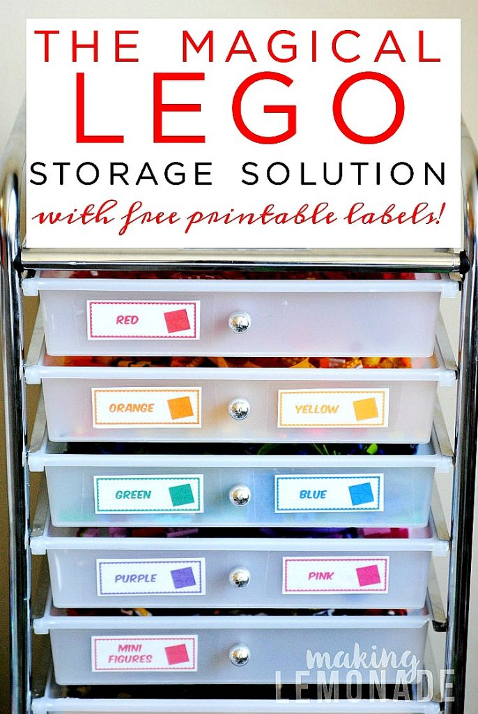 image regarding Free Printable Organizing Labels called The Magical LEGO Setting up Product No cost Printable Labels