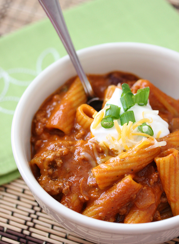 one pot chili rigatoni