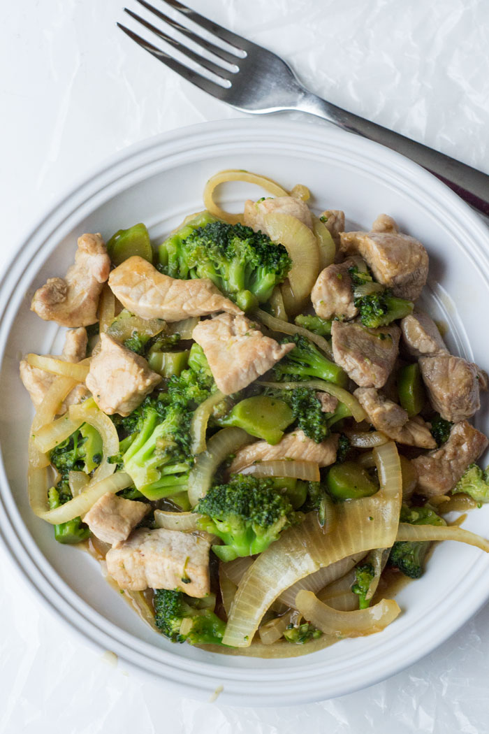 pork and broccoli stir fry