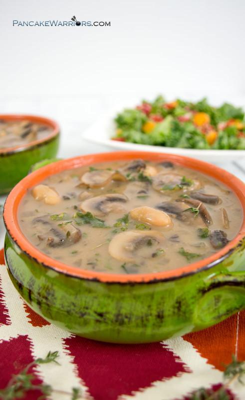 white bean mushroom soup
