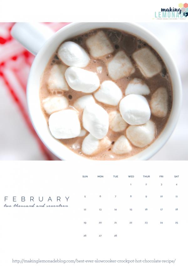 Free Printable 2017 Photo Calendar