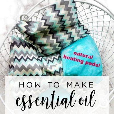 DIY Aromatherapy Rice Bags (Natural Heating Pads)
