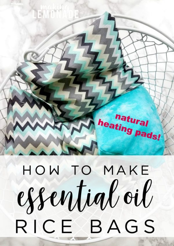 THE BEST essential oils for soothing muscles and providing tension relief, plus a tutorial for How to Make a DIY Aromatherapy Rice Bag (natural heating pads!)
