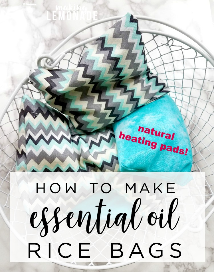 Diy Aromatherapy Rice Bags Natural Heating Pads Making Lemonade