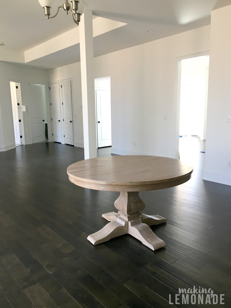 all about moving into a new construction home (living room)