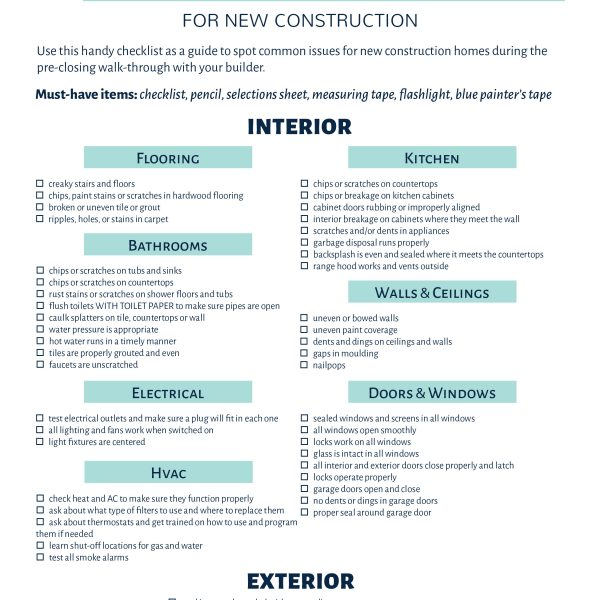 Don't skip this important step when building a house; use this pre-closing checklist to make sure you don't miss any defects before you buy a home!