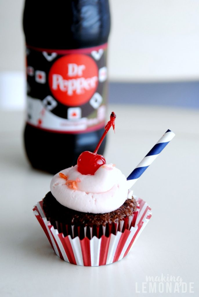 Brilliant-- this delicious Dr Pepper cupcakes recipe is super easy to make thanks to using boxed cake mix plus they feed a crowd and are a hit at parties!