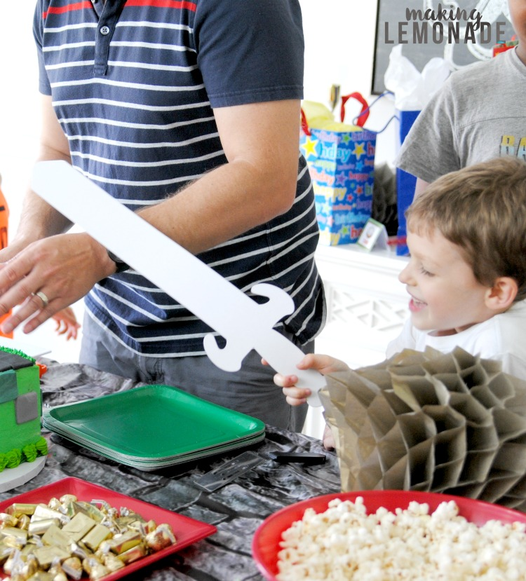 The motherload of Minecraft kids' birthday party ideas-- Mineraft themed decorations, printables, food, activities, games, cakes and more!