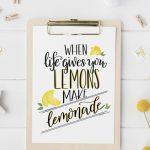 Hand Lettered Lemonade Printable (& Learn How to Hand Letter!)