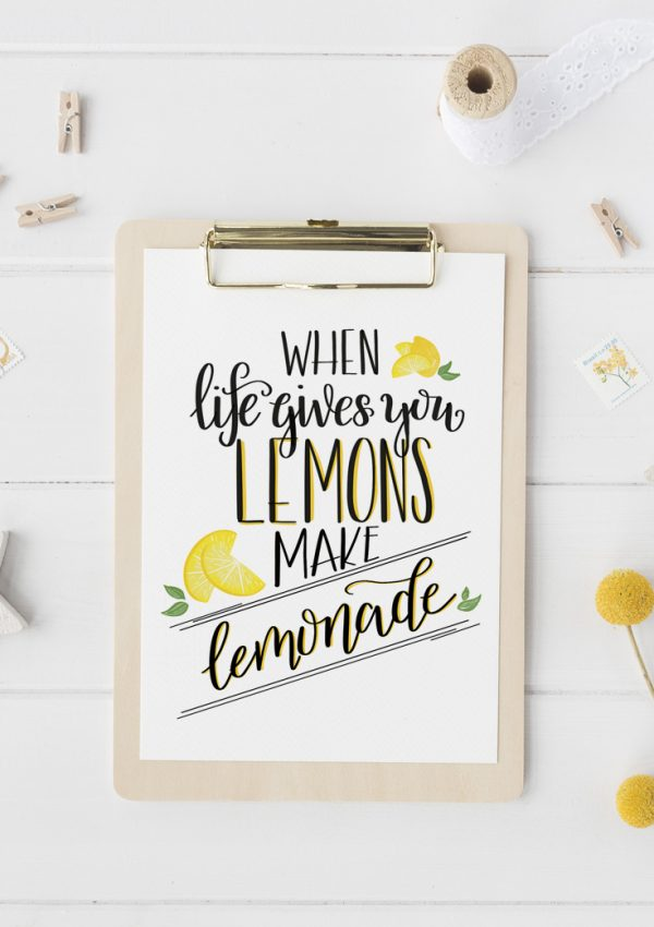 Hand Lettered Lemonade Printable (& Learn How to Hand Letter!)