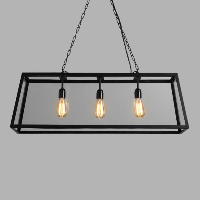rectangular cage chandelier square rustic 20 budget friendly lighting options that are right on trend rectangular pendant lamp 20 beautiful lighting options wont break the bank