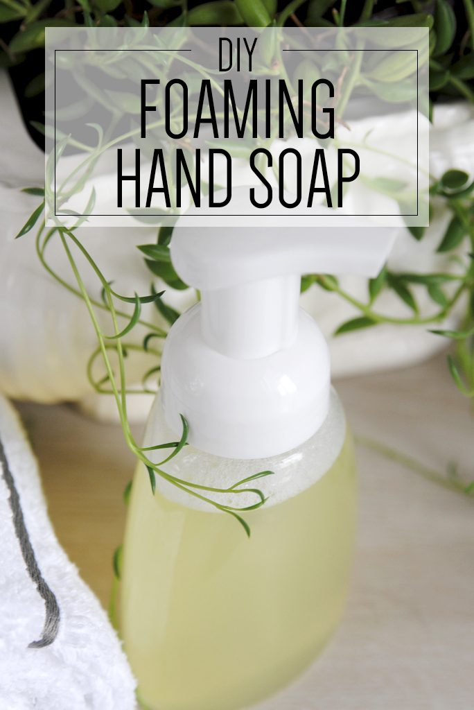 foaming hand soap with plant