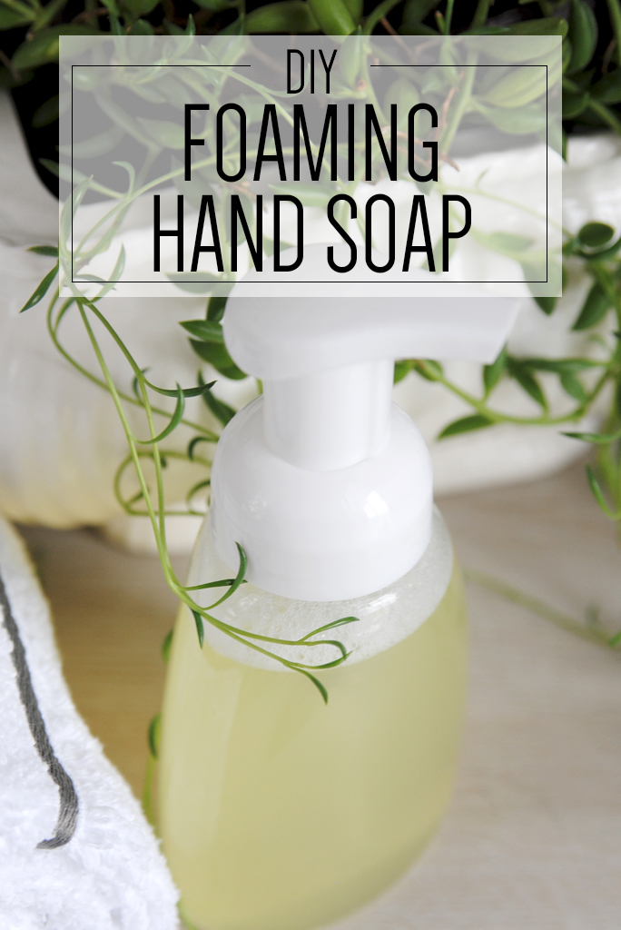 Avoid chemicals in hand soaps by making your own. This easy DIY foaming hand soap recipe contains ...
