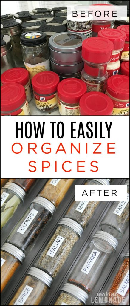 How to easily organize spices