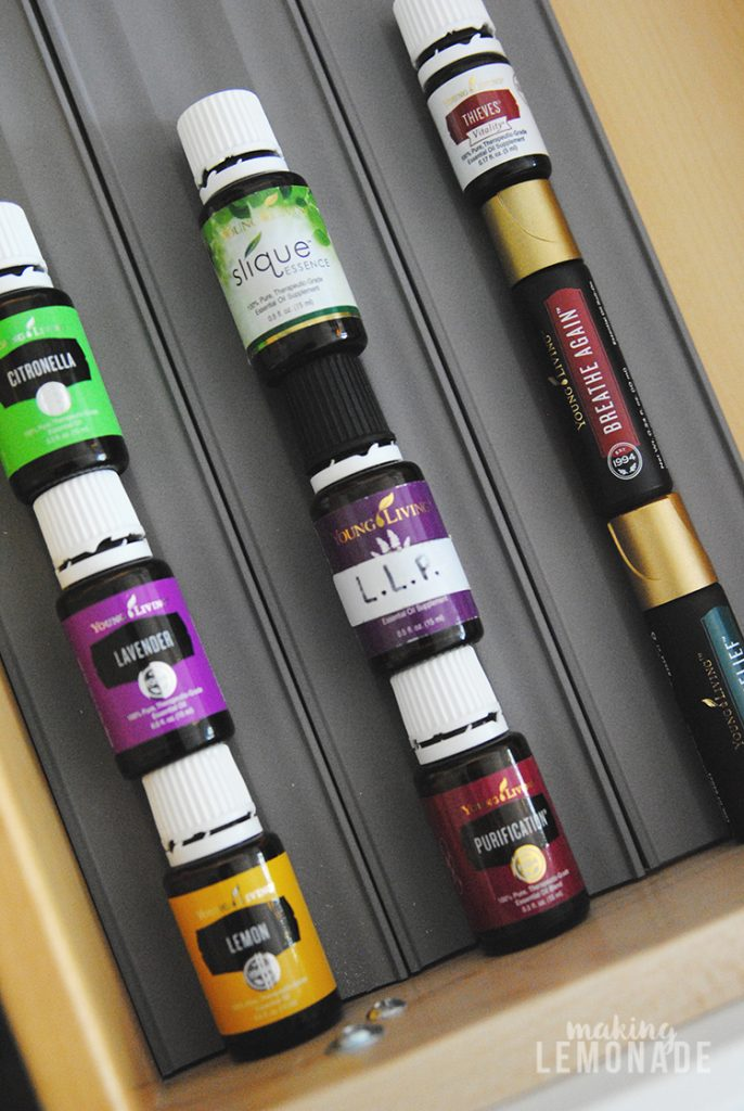 You can use this method to store essential oils as well