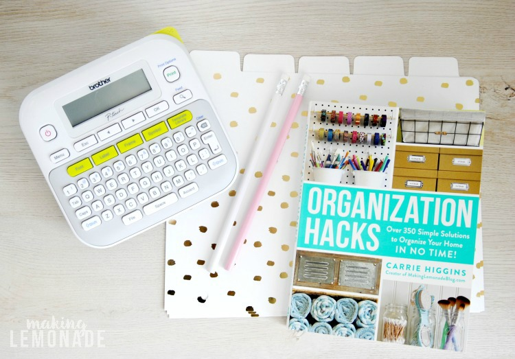 organization tips, hacks and ideas to finally get organized