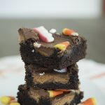 These Halloween brownies look so good and use a boxed brownie mix! Making these Monster Mash for our next Halloween party!