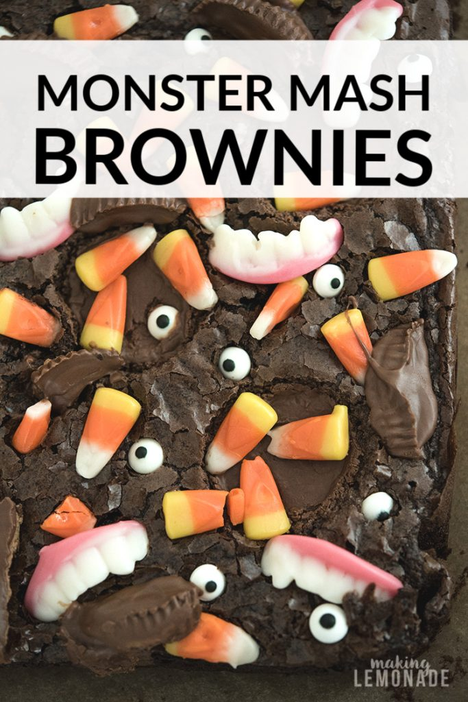 Halloween party brownies