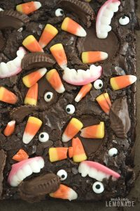 Monster Mash Halloween Brownies (Brownie Mix Hack with VIDEO!)
