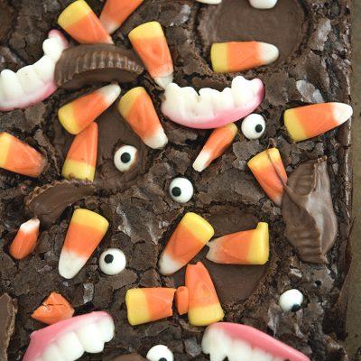 Monster Mash Halloween Brownies (Brownie Mix Hack!)