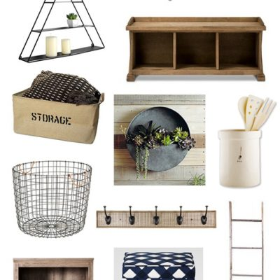Farmhouse inspired organization and storage for the home