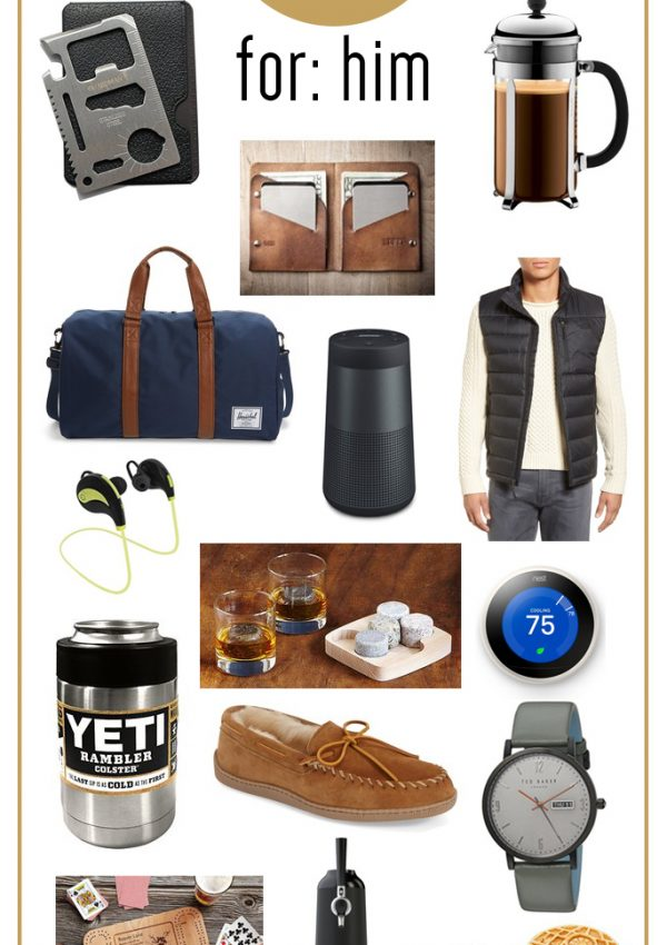 Find the perfect holiday gift for the guys in your life with this Gifts for Him Holiday Gift Guide!