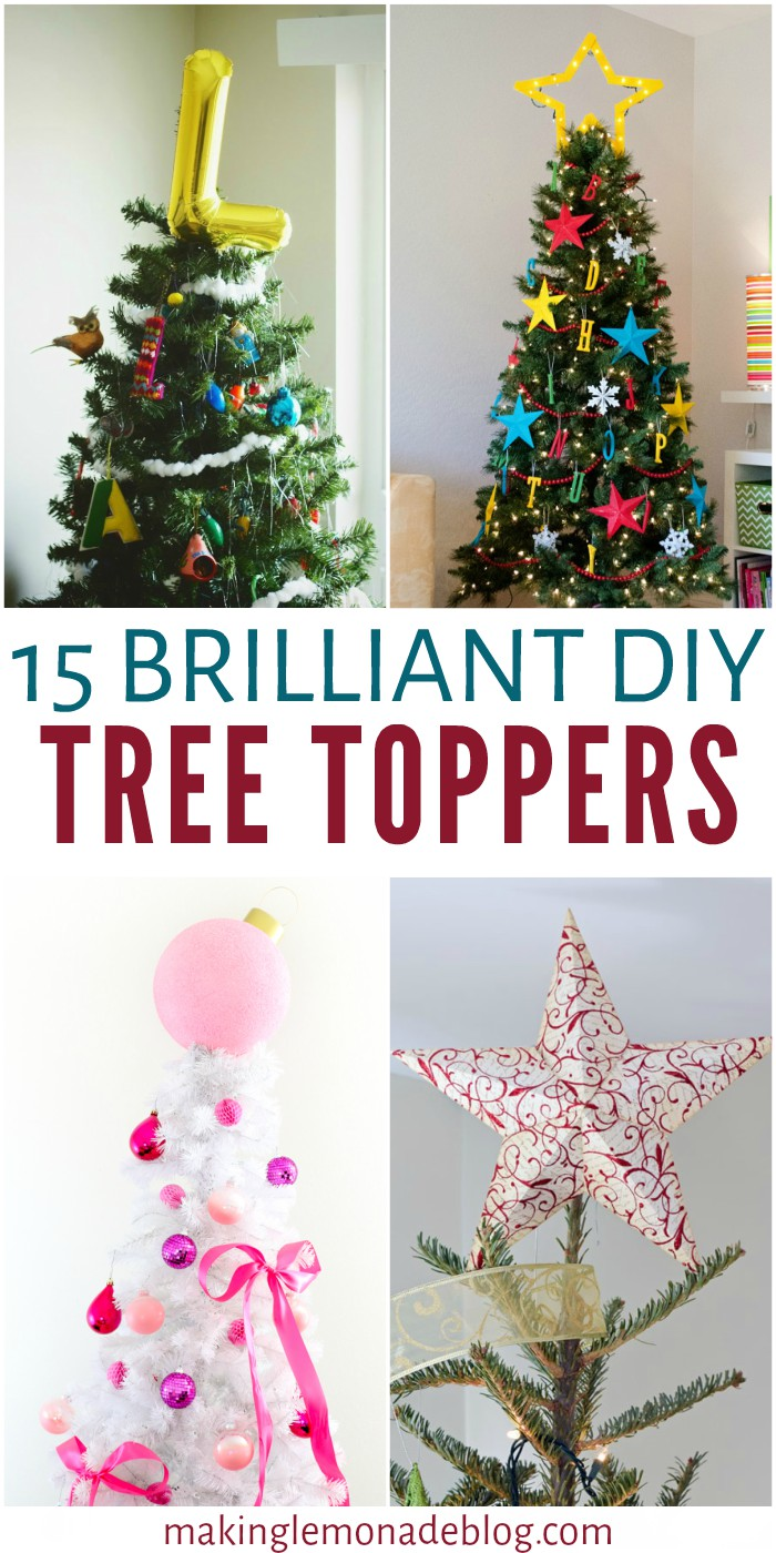 Whether you veer towards modern, glam, farmhouse, or playful there's a DIY tree topper idea to fit your style above. Which one caught your eye?