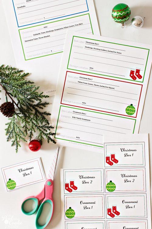 christmas organization labels