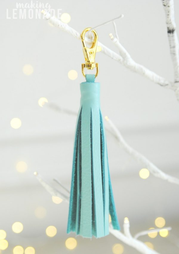 DIY Leather Tassel Keychain Diffuser