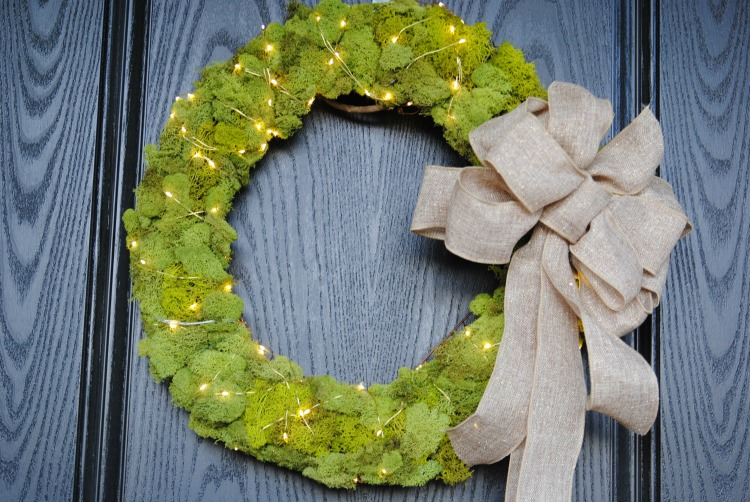 Festive Front Porch And Diy Fairy Light Wreath Making