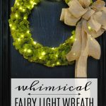 Festive Front Porch and DIY Fairy Light Wreath