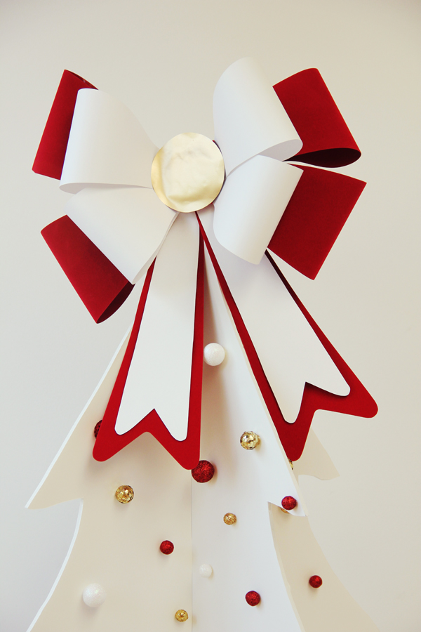 giant bow tree topper