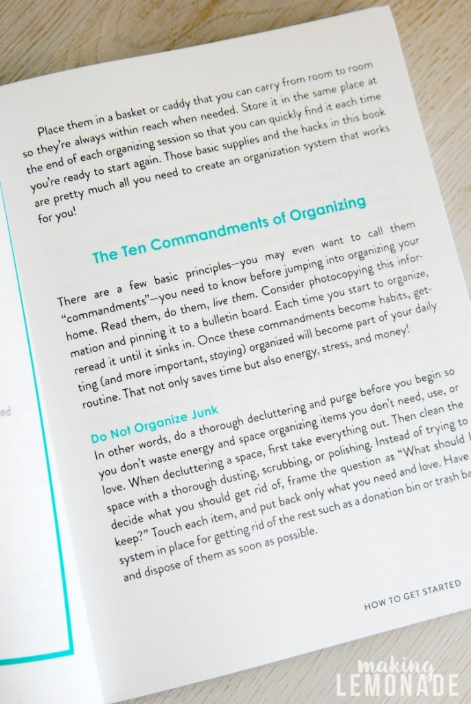 Organization Hacks has over 550 hacks, tips and ideas to get organized in no time!