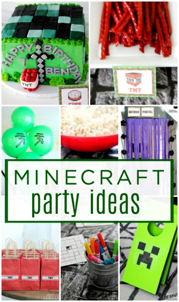 Minecraft birthday party ideas and printables