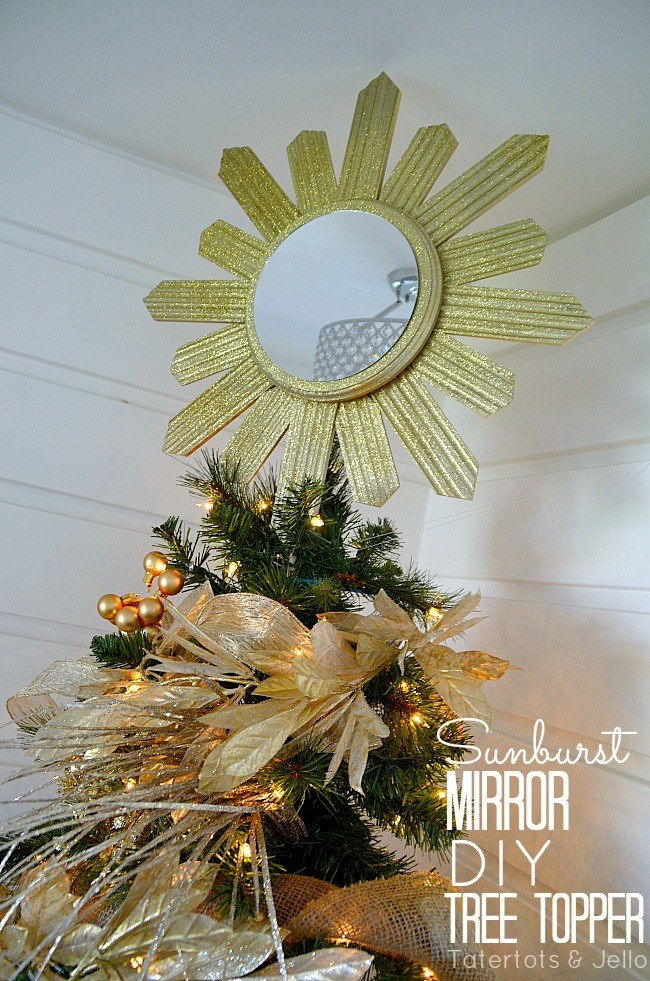 sunburst mirror tree topper