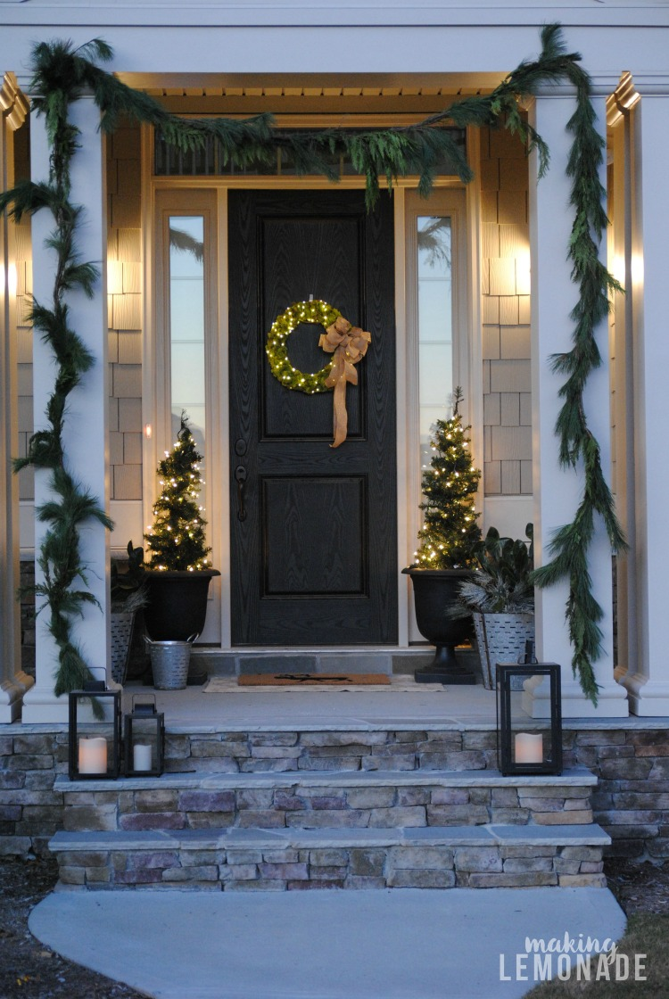separation shoes a29dc 26e4e Festive Front Porch and DIY Fairy Light Wreath | Making Lemonade