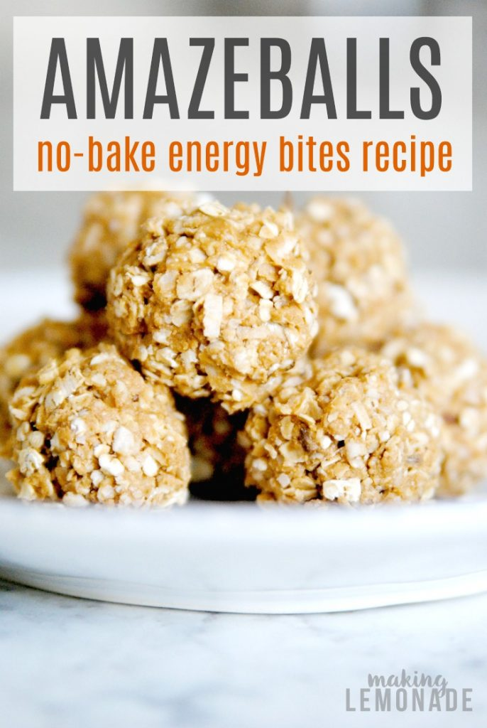 AMAZEBALLS! These gluten-free no-bake energy balls are the perfect healthy snack or breakfast on-the-go. Making these today!