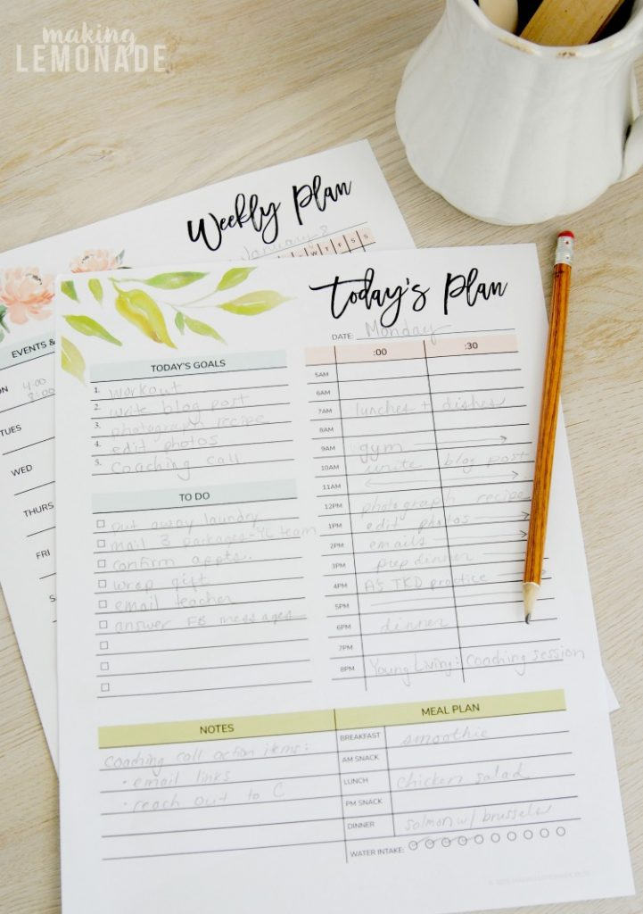I can't believe this printable planner is totally free-- it has daily, weekly, monthly and yearly calendars and planning sheets to keep your schedule organized and goals on track for the entire year!