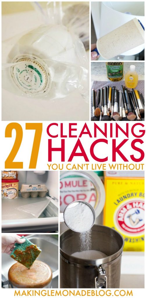 27 genius cleaning hacks and tips that make life SO much easier!