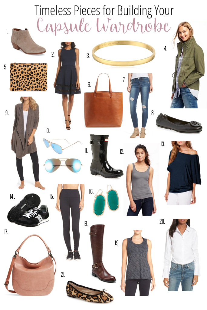 Stock up on these classic must-have capsule wardrobe basics that never go out of style!